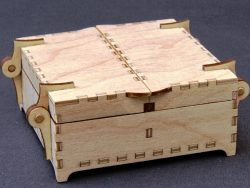 Wooden Box For LaserCut Cnc Free DXF File