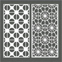 Semicircular Baffle Pattern For Laser Cut Cnc Free CDR Vectors Art