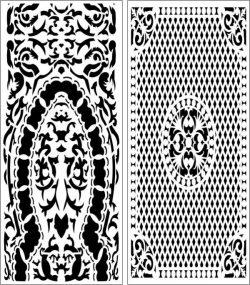 Set Of Arabic Style Baffles For Laser Cut Cnc Free CDR Vectors Art