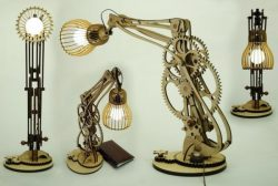 Shutter Lamp At The Desk For Laser Cut Cnc Free CDR Vectors Art