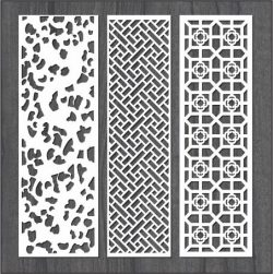Simple Vertical Column Bulkhead Design For Laser Cut Cnc Free CDR Vectors Art