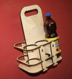 Six Wooden Boxes For Soda Bottles For Laser Cut Cnc Free CDR Vectors Art