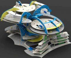 Small City Model For Laser Cut Cnc Free CDR Vectors Art