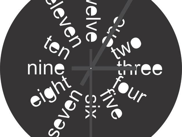 3d Clock Laser Cut Design Free DXF File