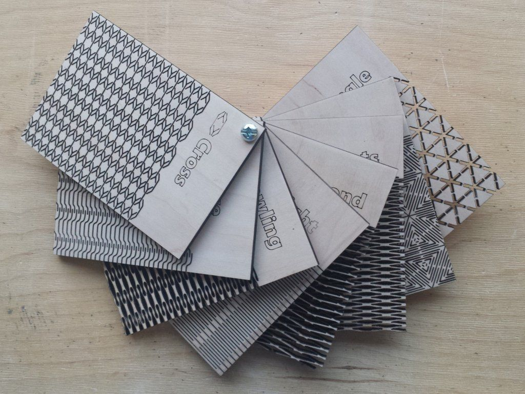 3d Hex Pattern Living Hinge Template For Laser Cut Free DXF File