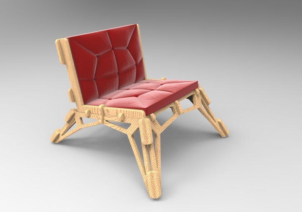 Cnc Laser Cut Chair Sofa Design Free DXF File