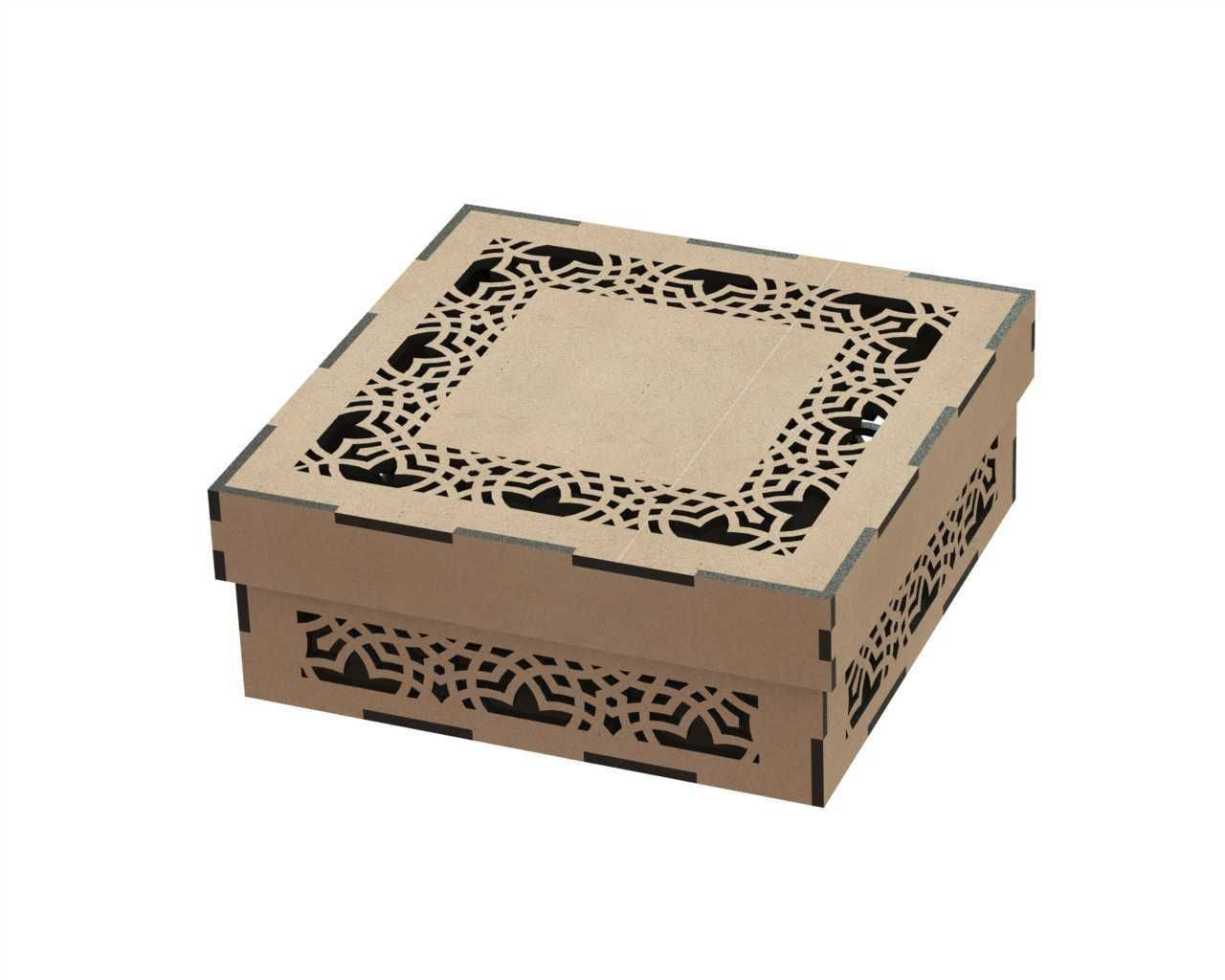 Cnc Laser Cut Engraved Gift Box Free DXF File