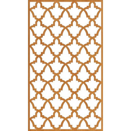 Cnc Laser Cut Floral Wall Partition Design Free DXF File