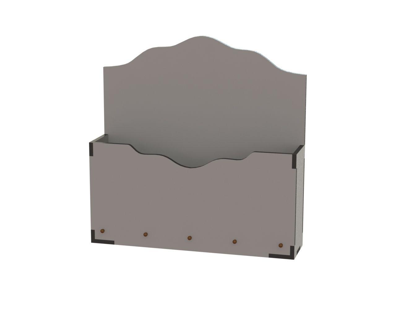 Cnc Laser Cut Simple Storage Box Free DXF File