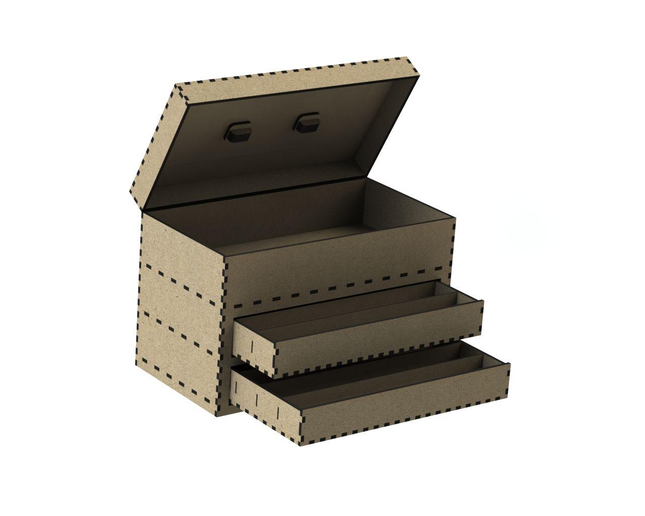 Cnc Laser Cut Tool Drawer Box Free DXF File