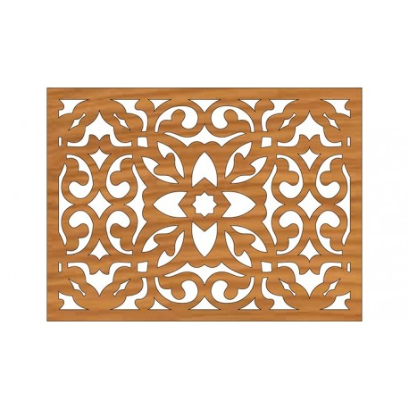 Cnc Laser Cut Wall Partition Pattern Design Free DXF File