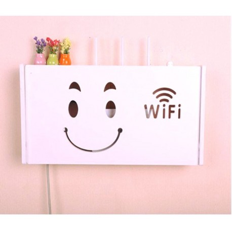 Cnc Laser Cut Wooden Wifi Devices Shelf Free DXF File
