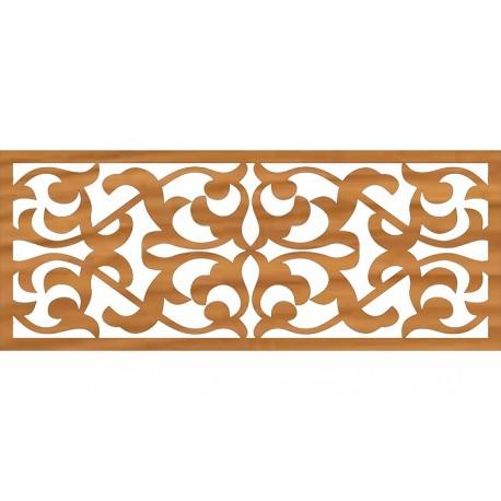 Ornamental Steel Fence Pattern Wall Design Free DXF File