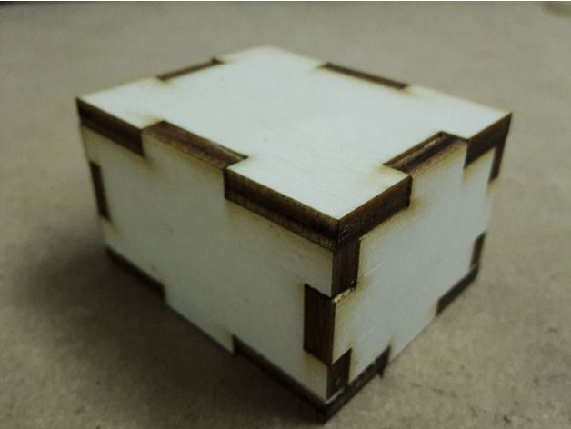 Simple Parametric Box Laser Cut Free DXF File