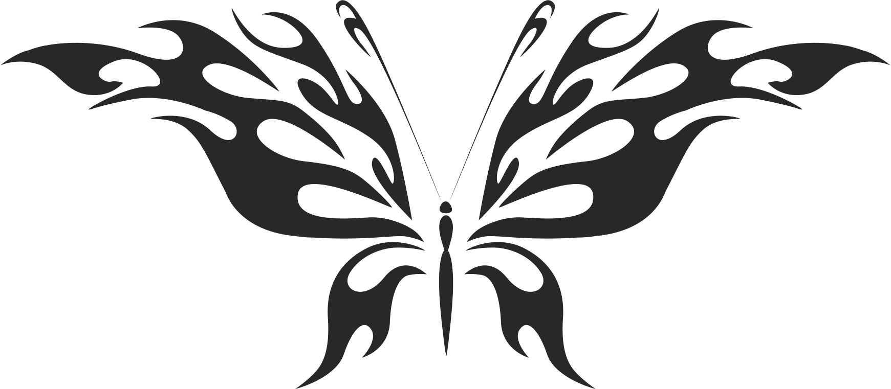 Tattoo Tribal Butterfly  Free DXF File