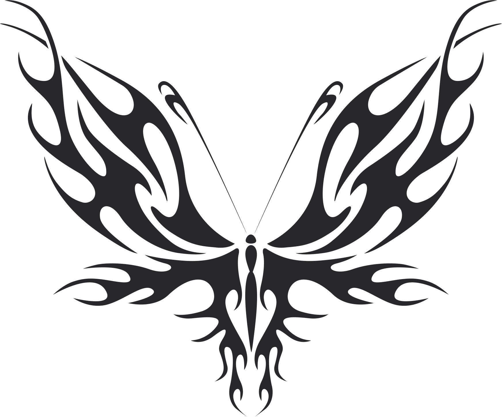 Tattoo Tribal Butterfly 555 Free DXF File