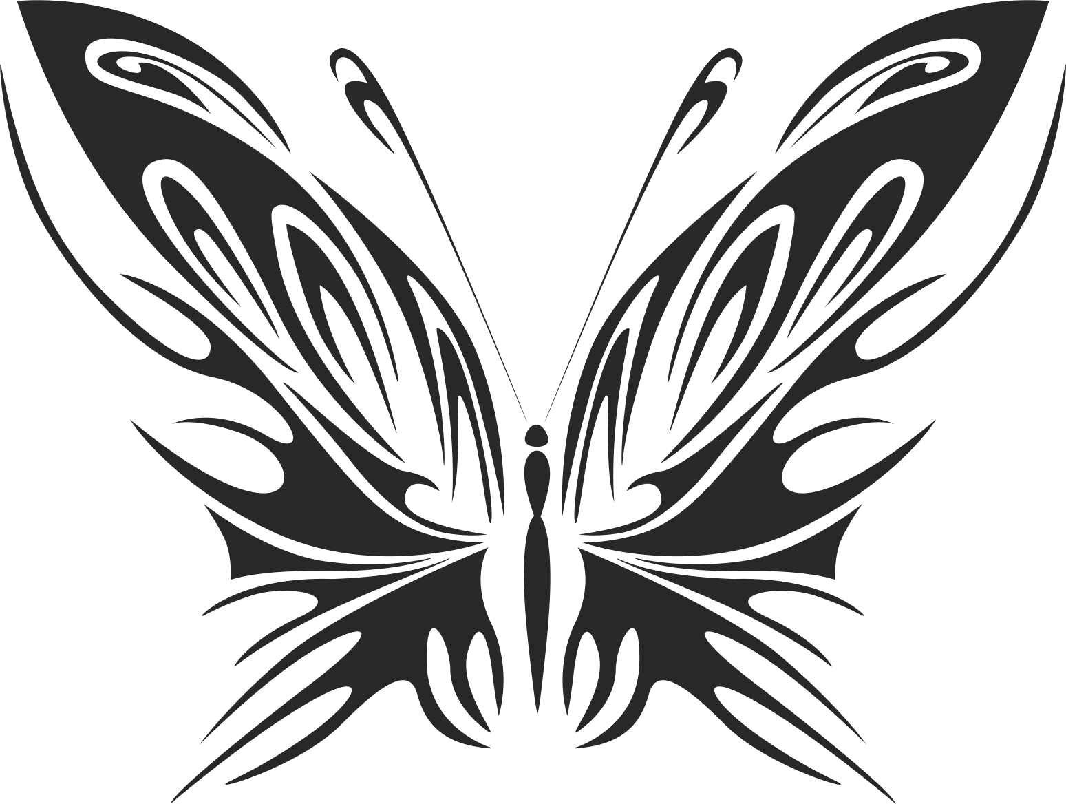 Tattoo Tribal Butterfly Wildlife Free DXF File