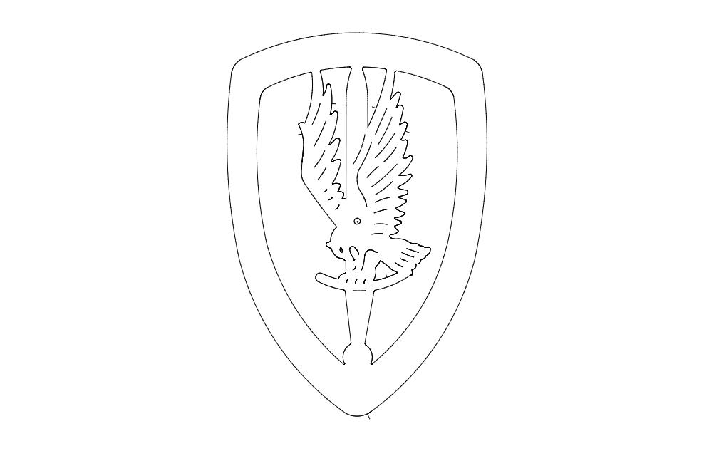 1st Aviation Brigade Logo Free DXF File