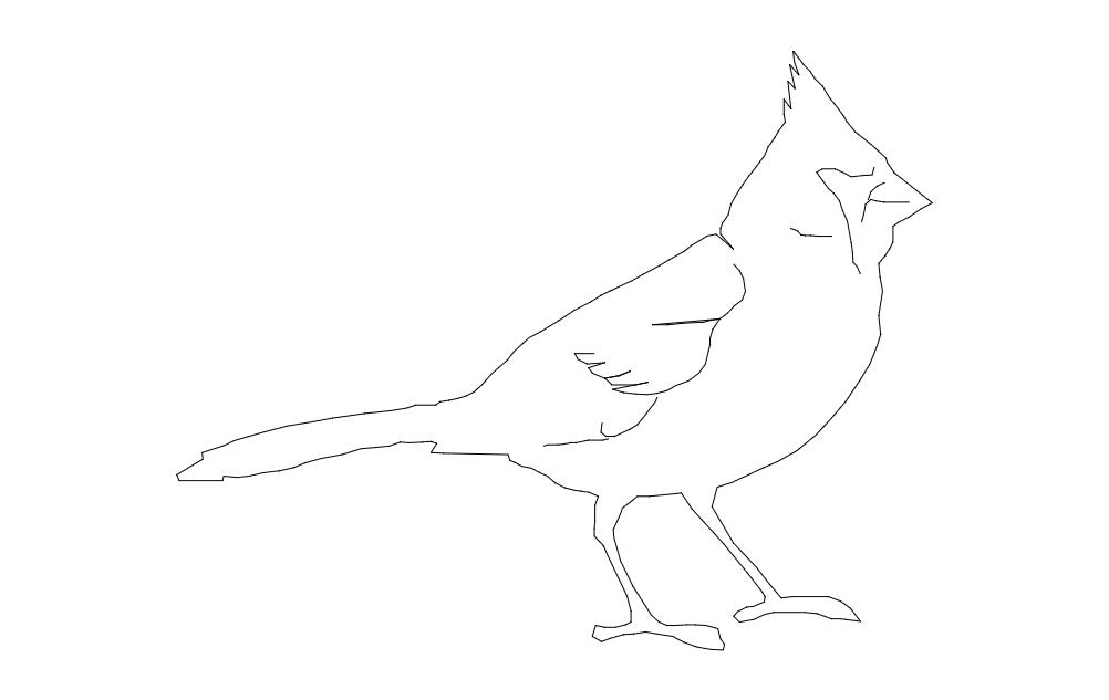 8×10 Cardinal Bird Free DXF File