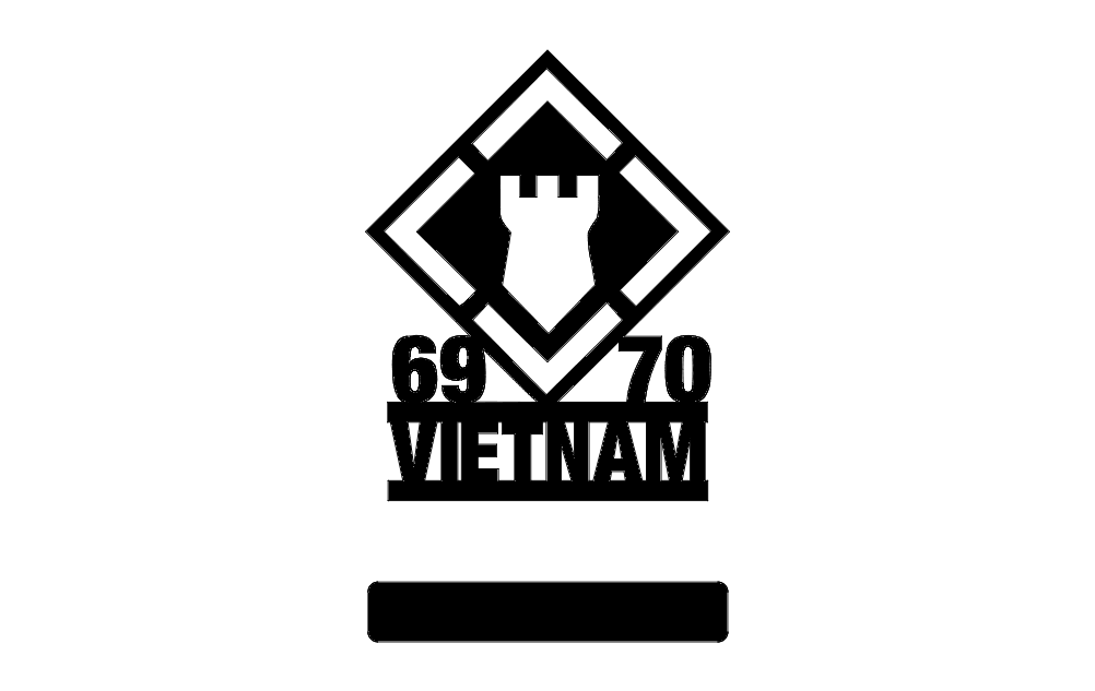 20th Engineers 69-70 Vietnam w-stand Logo Free DXF File
