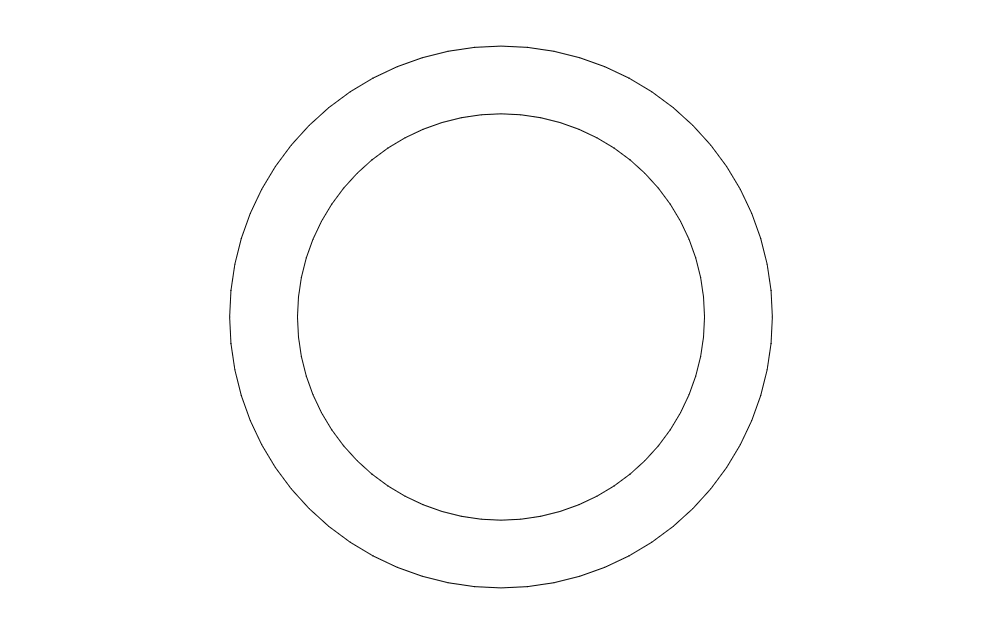 55 Chevring Circle Free DXF File