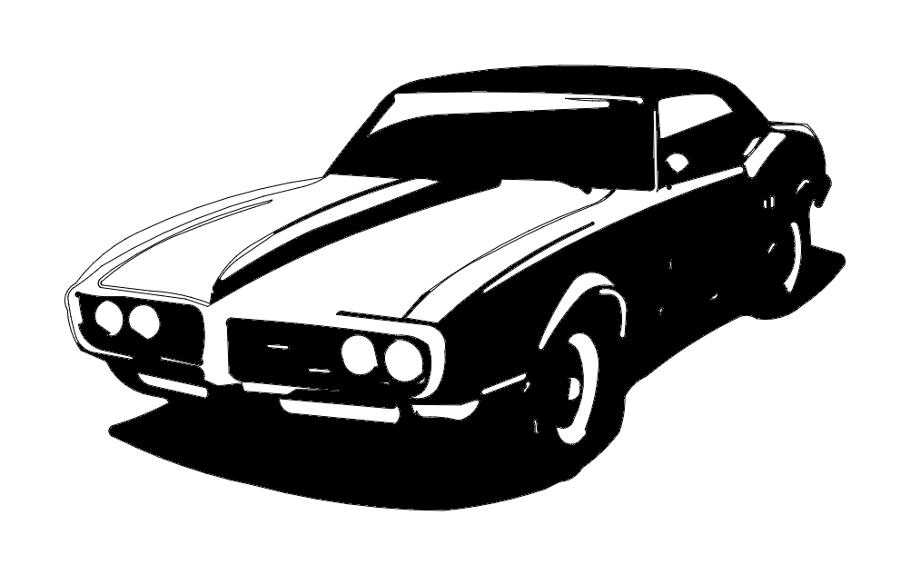 67 Firebird Car Free DXF File