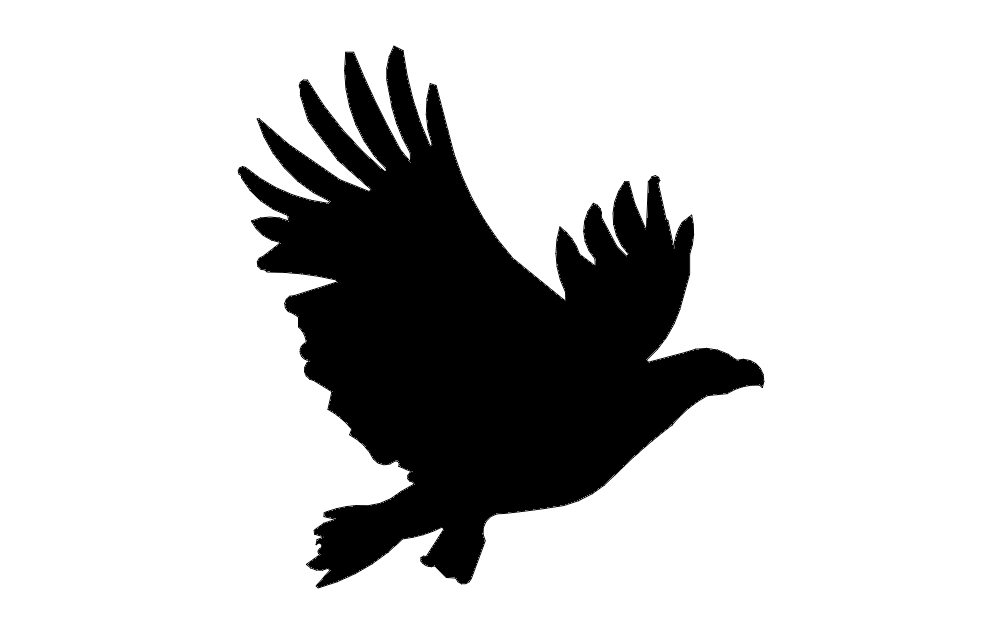 American Eagle Flying Eagle Free DXF File