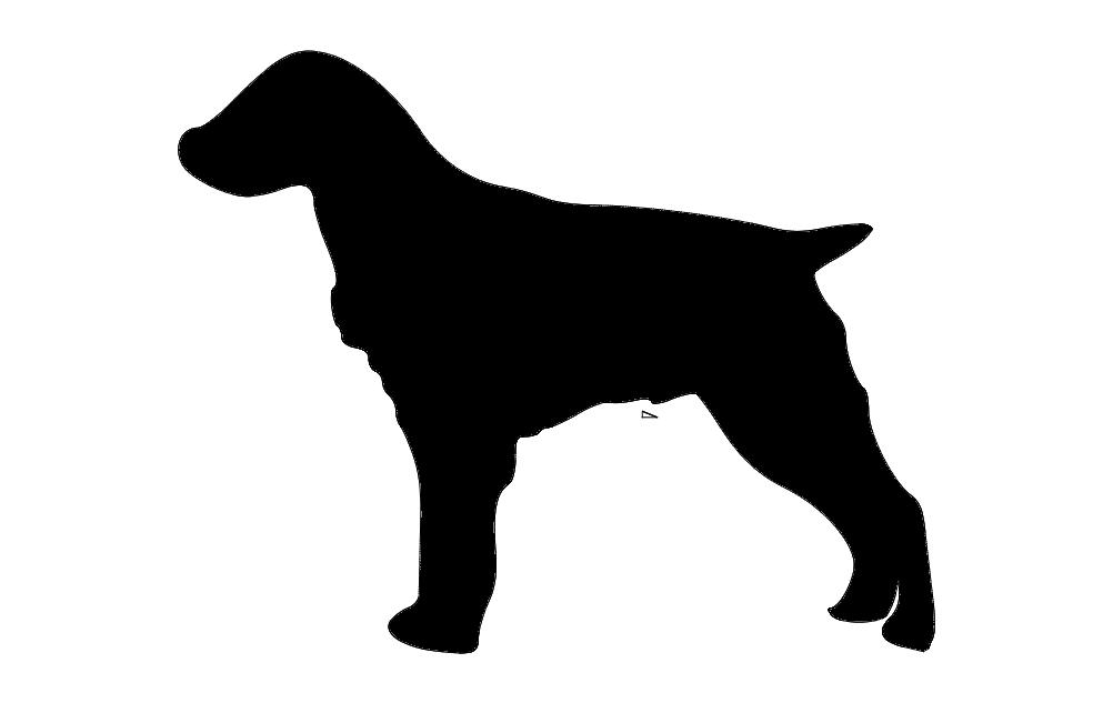 Brittany Spaniel Dog Free DXF File