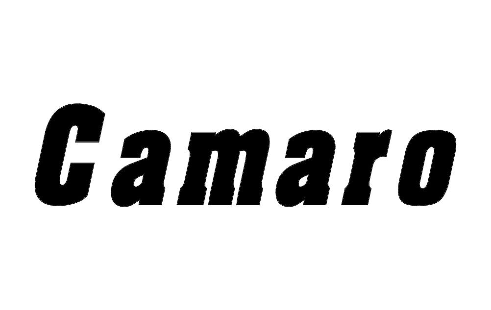 Camaro Word Free DXF File