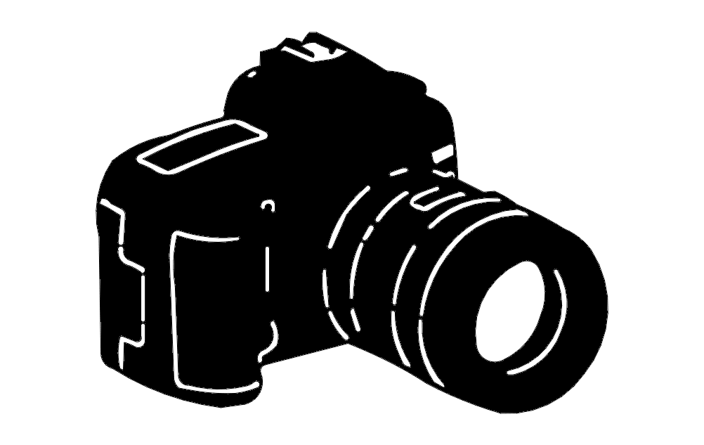 Camera Silhouette Free DXF File