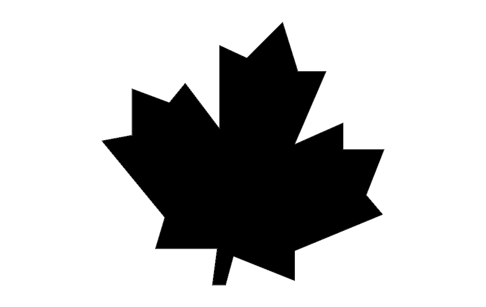 Canadian Maple Leaf Silhouette Free DXF File