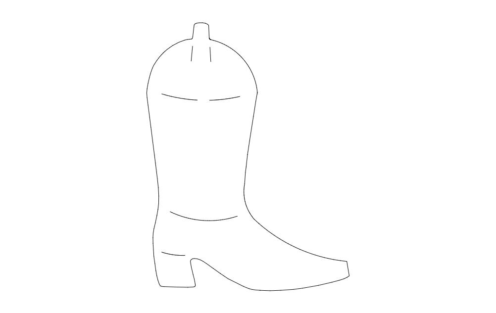 Cowboy Boot Free DXF File