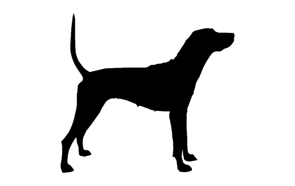 Dog Hunting Silhouette Free DXF File