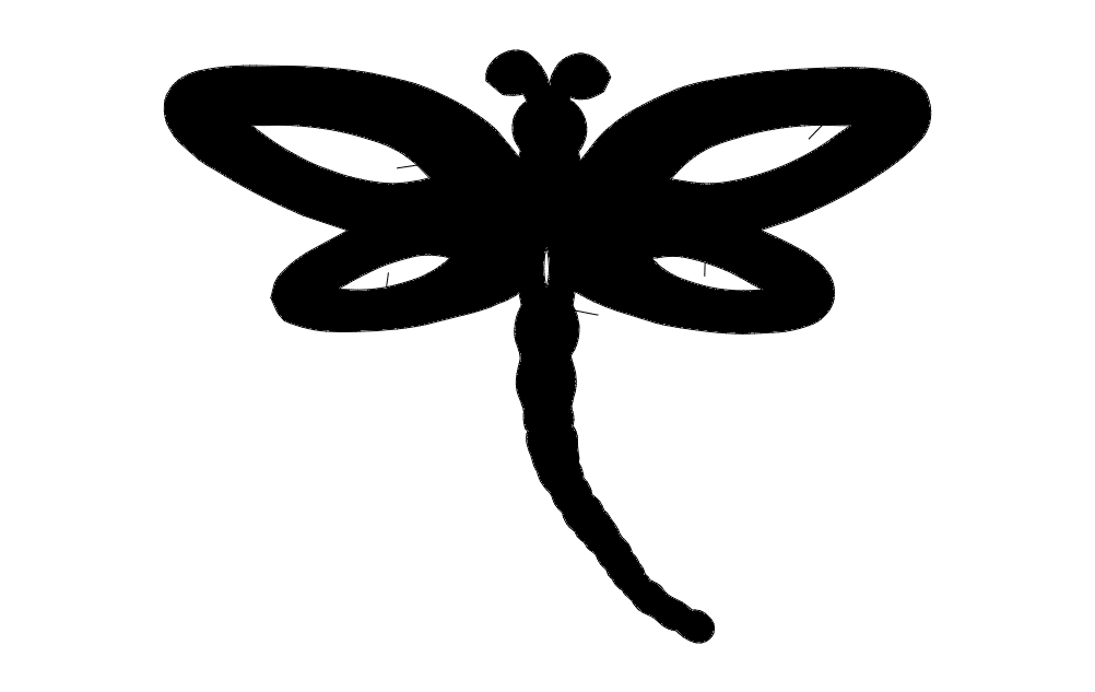 Dragonfly Single Free DXF File