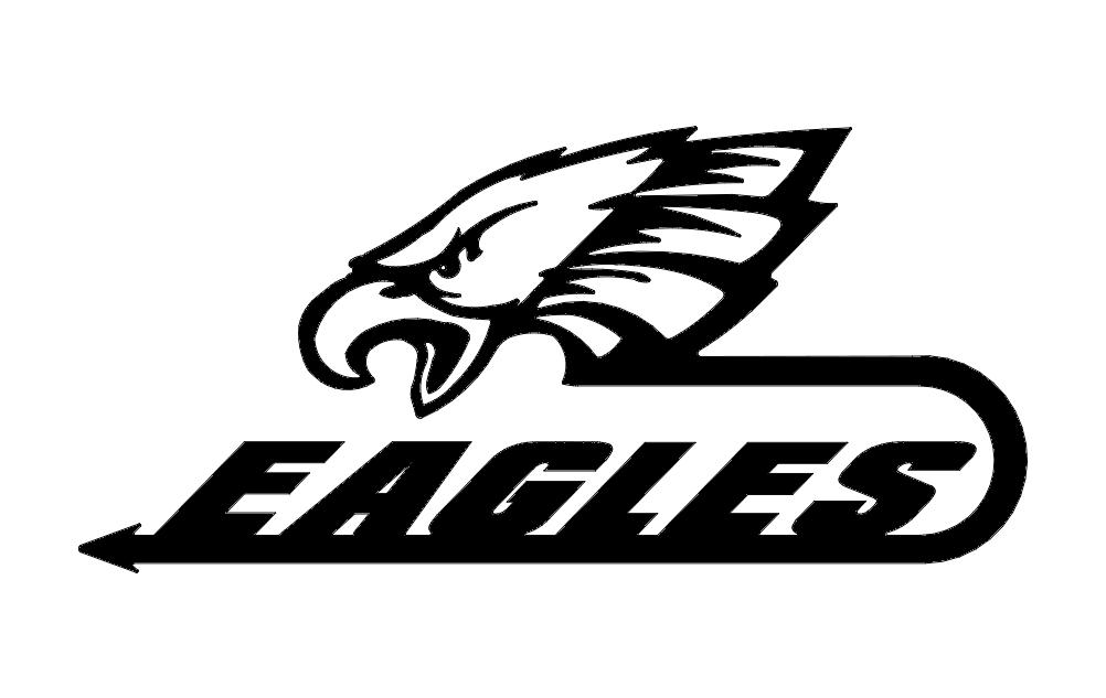 Eagles Logo Free DXF File