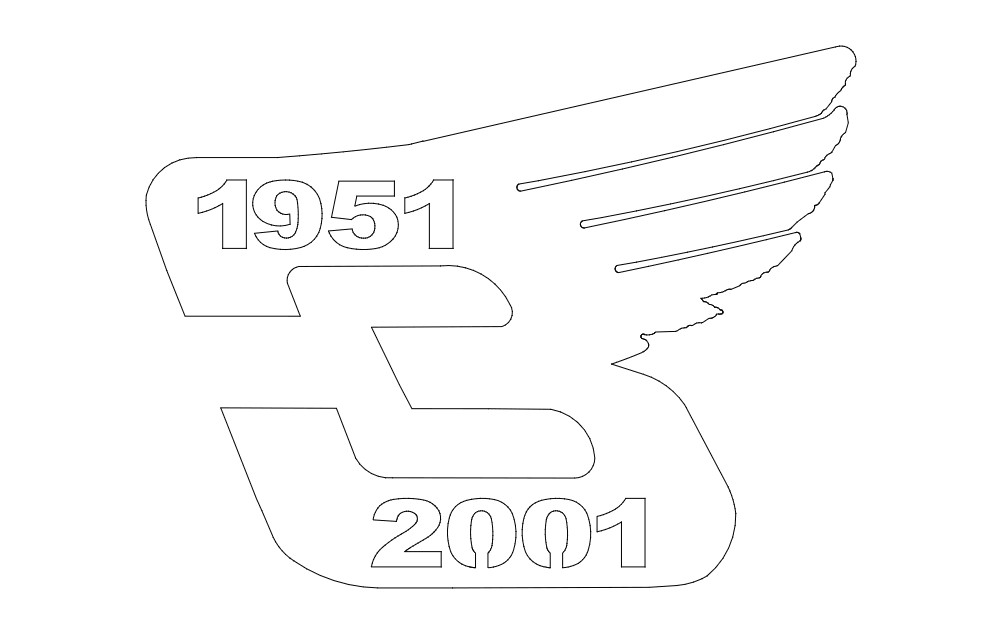 Earnhardt With Wing Logo Free DXF File