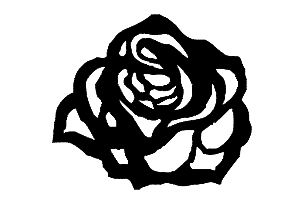Flower Rosa 80×70 Mdf 6mm f3mm Free DXF File