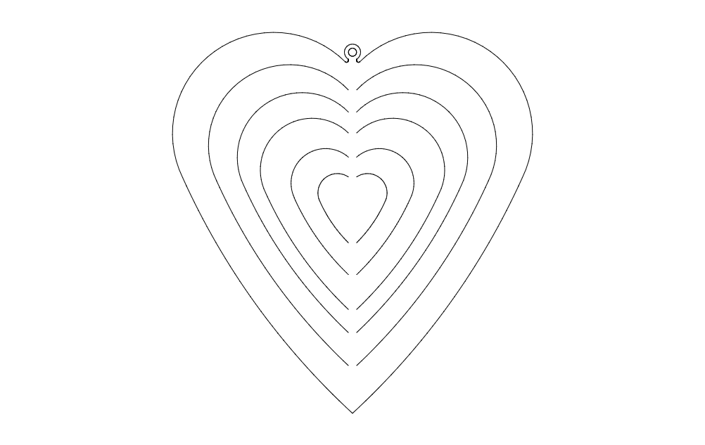 Heart Spinner Free DXF File