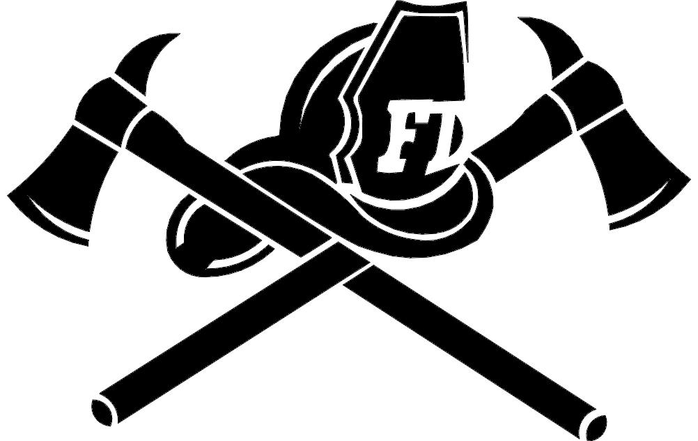 Helmet Crossed Axes Free DXF File
