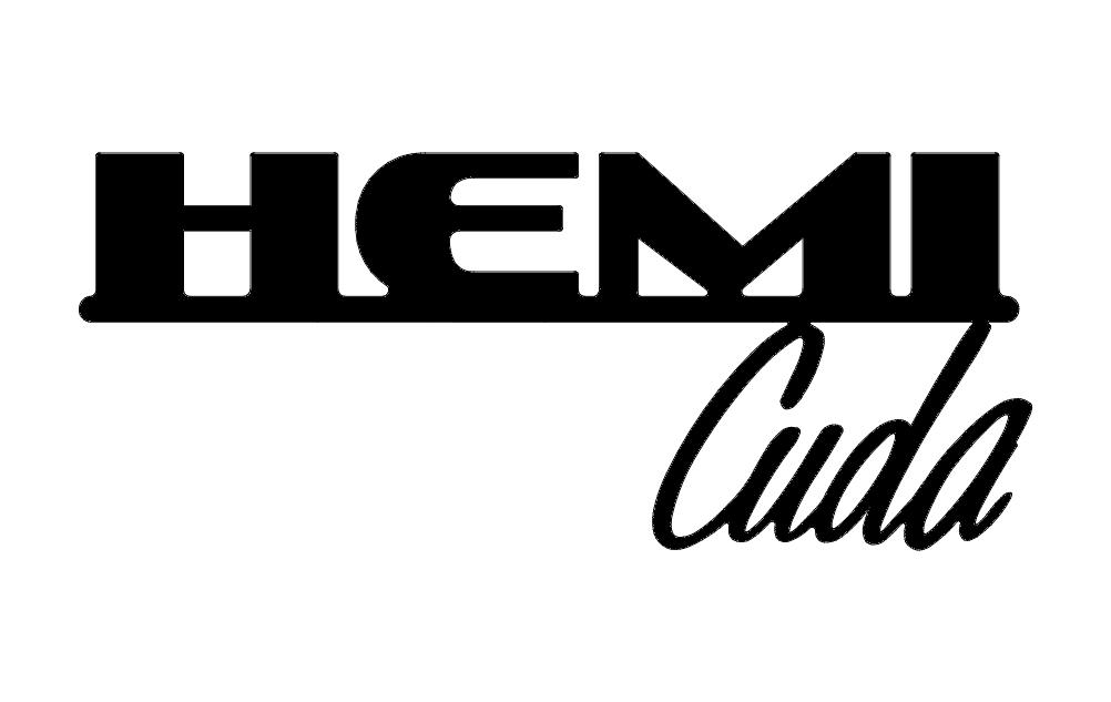 Hemi Cuda Words Free DXF File