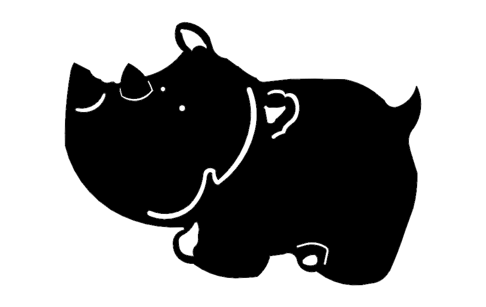 Hippo Cartoon Free DXF File