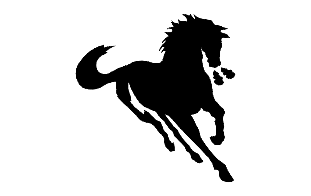 Horse Running Fast Free DXF File