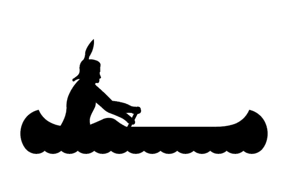 Indian Canoe Boat Free DXF File