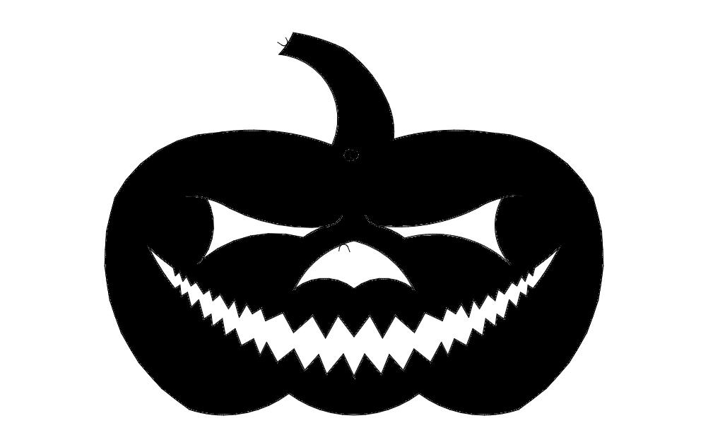 Jack O Lantern Pumpkin Free DXF File