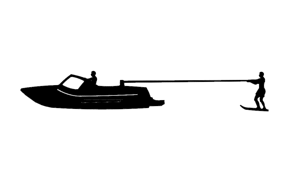 Kneeboard Fixed Skier Boat Free DXF File