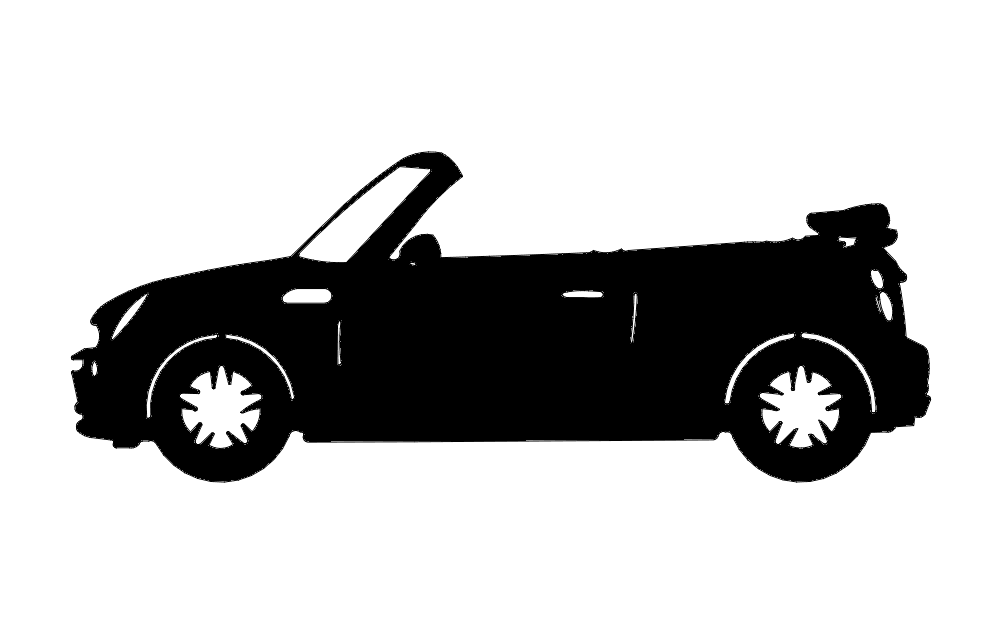 Mini Convertable Car Free DXF File