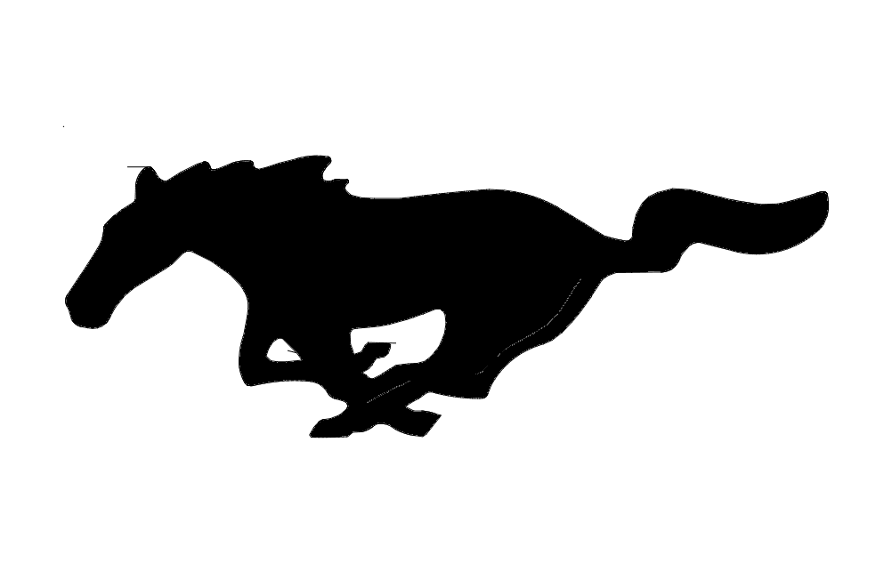 Mustang Horse Outline Free DXF File