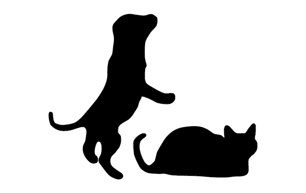 Puppy Silhouette Free DXF File