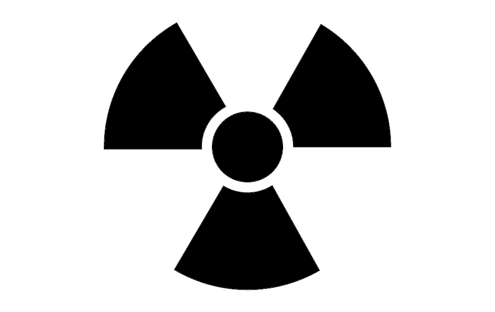 Radiation Symbol Icon Free DXF File