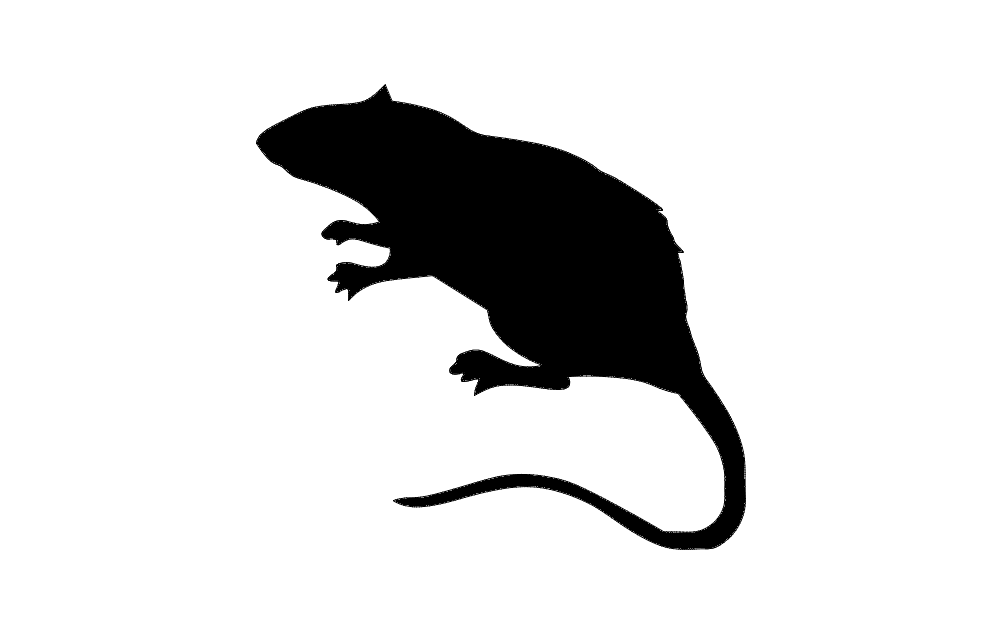 Animal Rat Silhouette Black Free DXF File